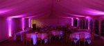 Deep purple moodlighting in marquee
