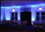 Moodlighting at gilvenbank hotel blue.