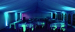 Deep blue moodlighting in marquee